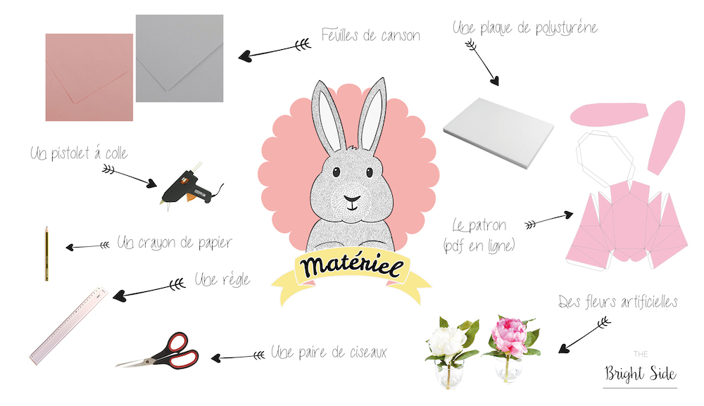 DIY : Trophée printemps lapin