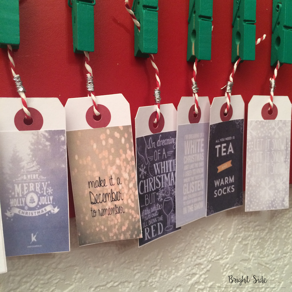 """[DIY] - Pour décorer """"Noël"""" : Calendrier de l'avent"""