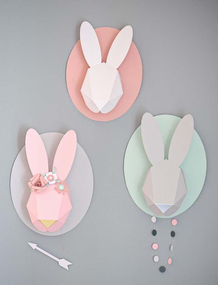 diy pour d corer troph e printanier lapin. Black Bedroom Furniture Sets. Home Design Ideas