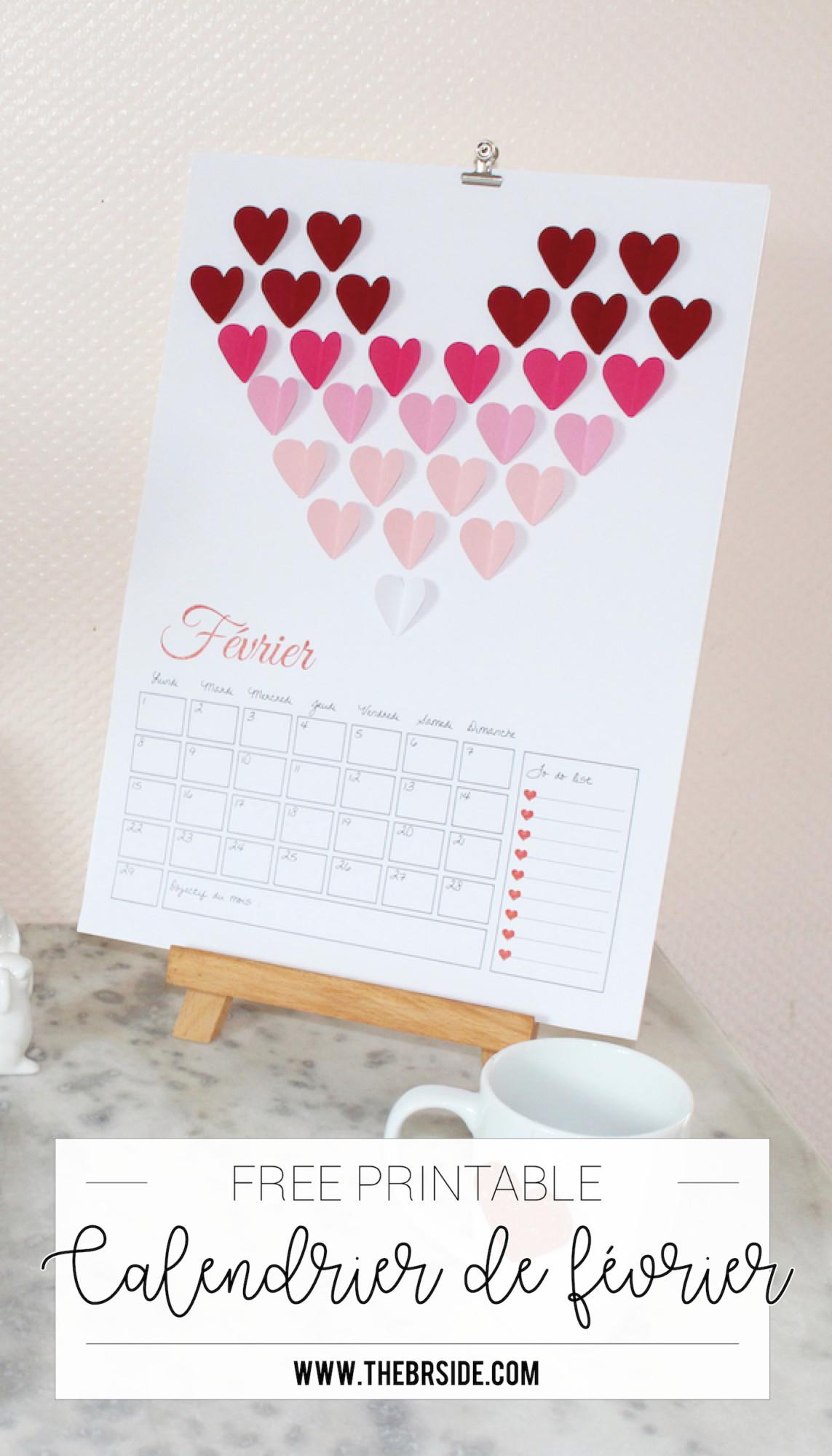 Pinterest Calendrier de février