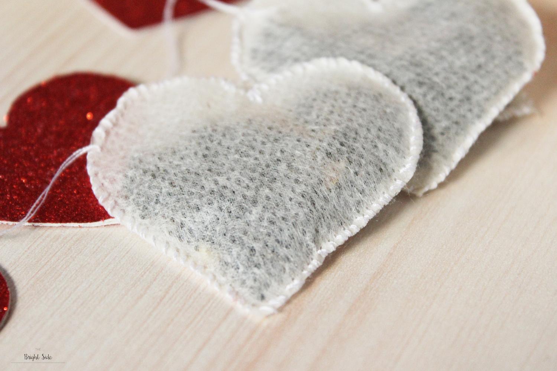 Sachets de thé en forme de coeurSachets de thé en forme de coeur