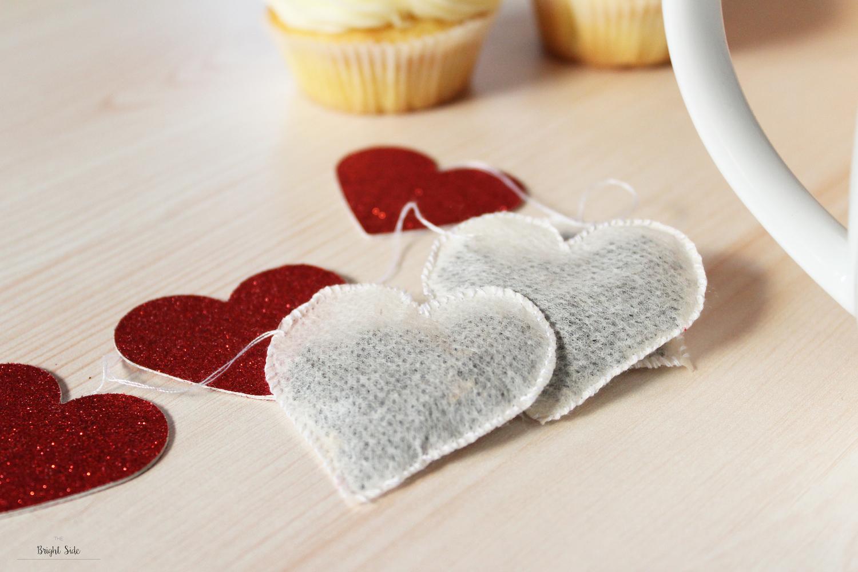 Sachets de thé en forme de coeur