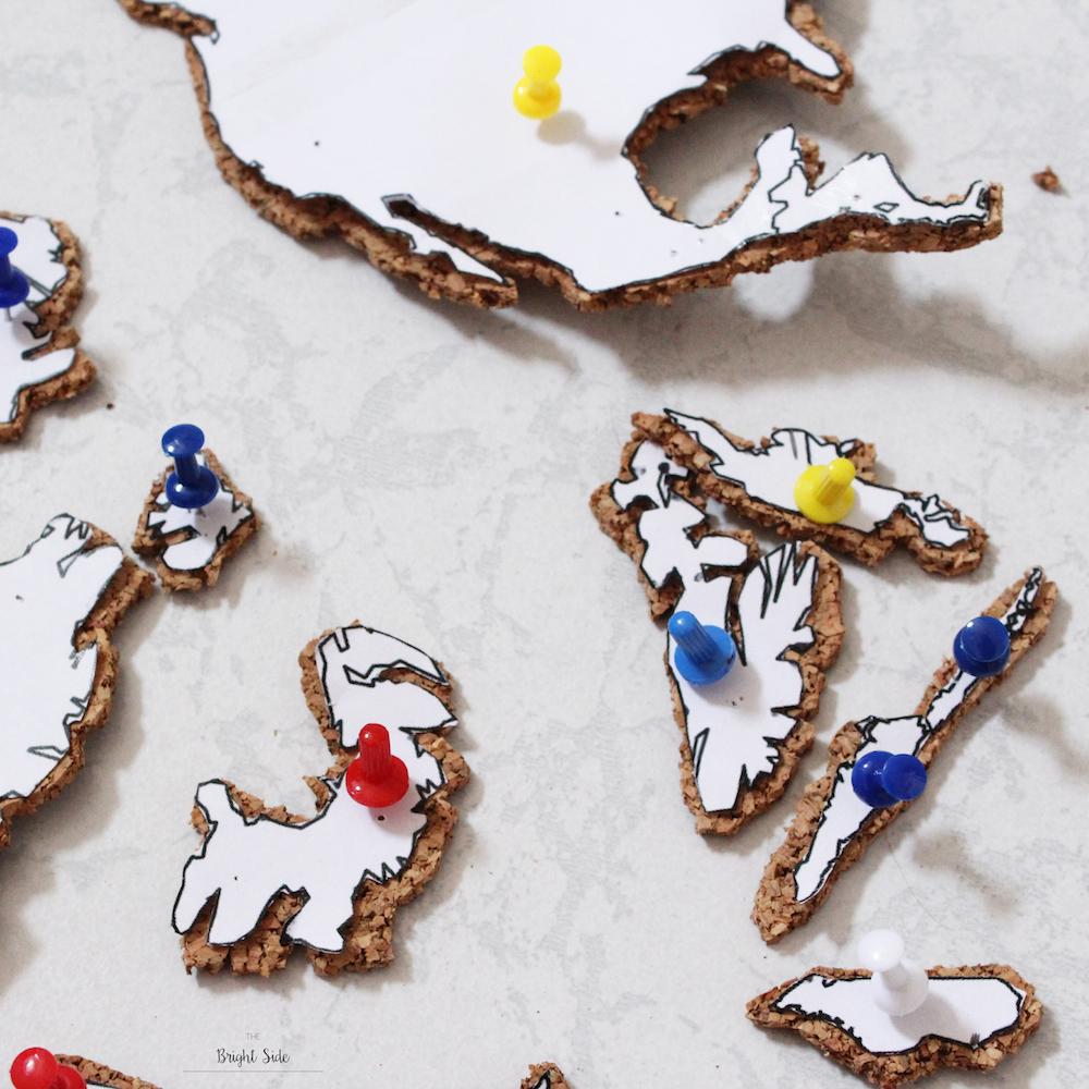 [DIY] – Pour décorer : la mappemonde en liège
