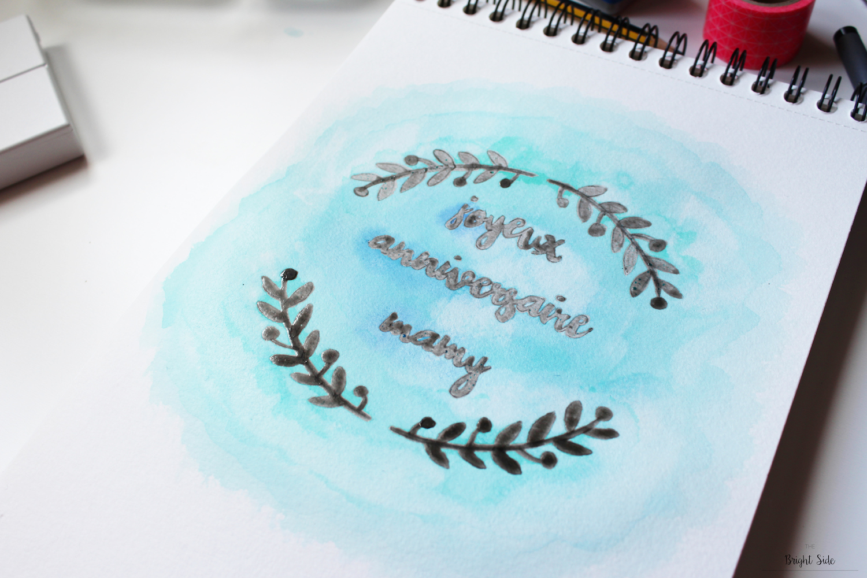 """Affiches et cartes aquarelle """"Bonne fête mamy"""""""
