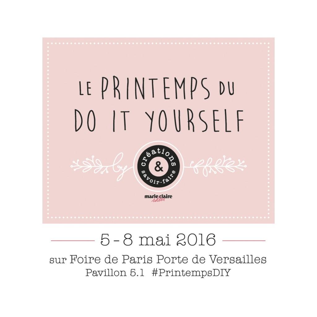 [LIFESTYLE] – Concours : gagner vos entrées pour le Printemps du DIY (Foire de Paris) !