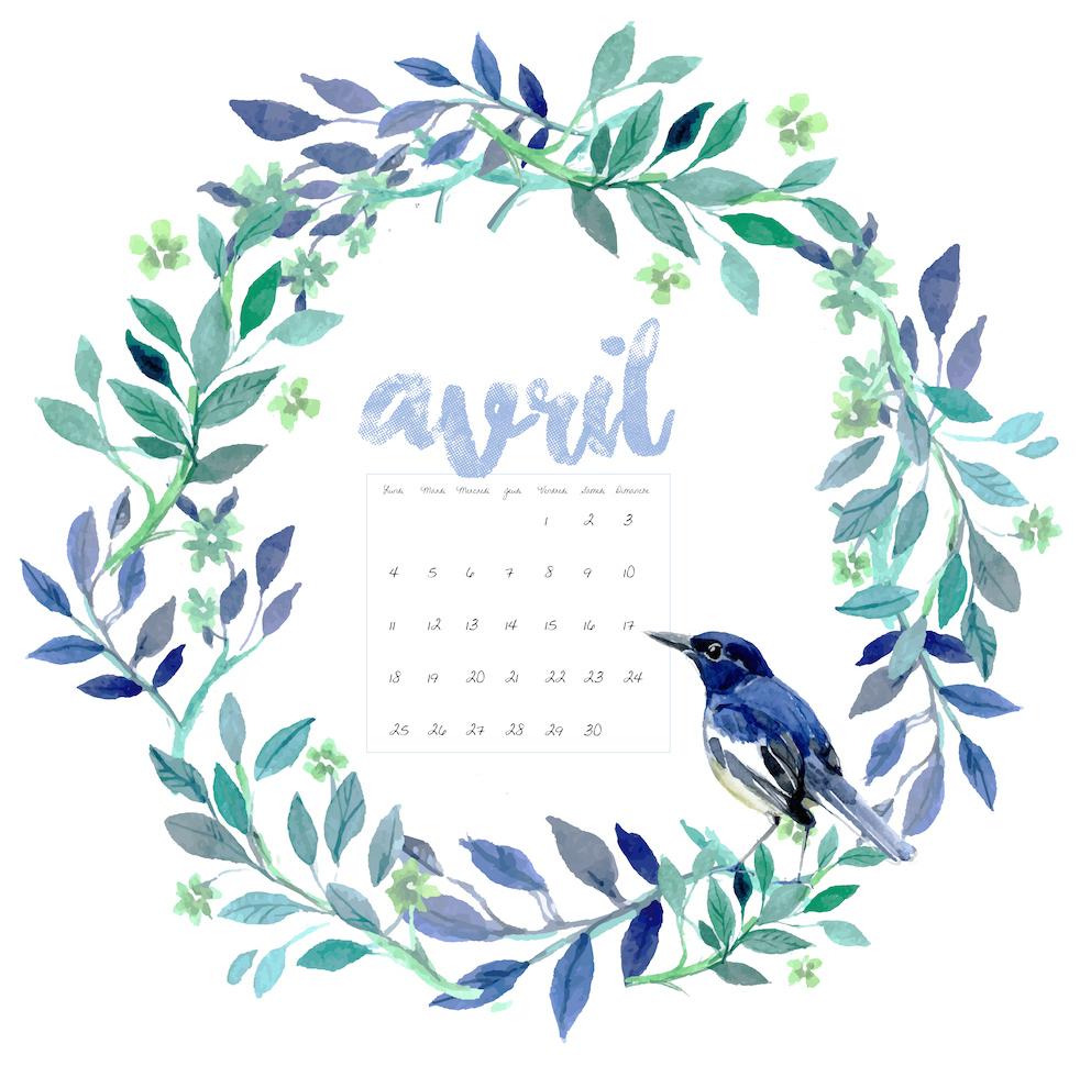 [DIY] – Free Printable : Calendrier d'avril