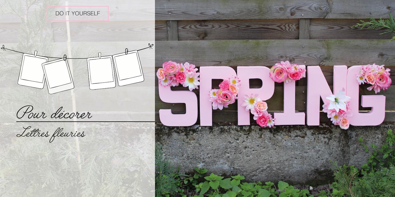 diy pour d corer les lettres fleuries. Black Bedroom Furniture Sets. Home Design Ideas
