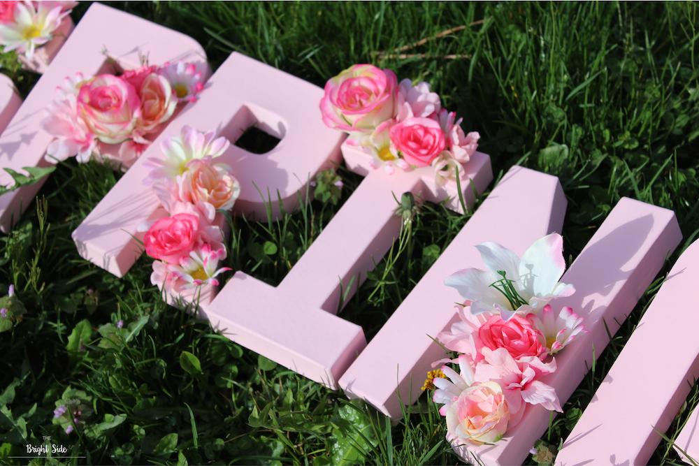 [DIY] – Pour décorer : Les lettres fleuries