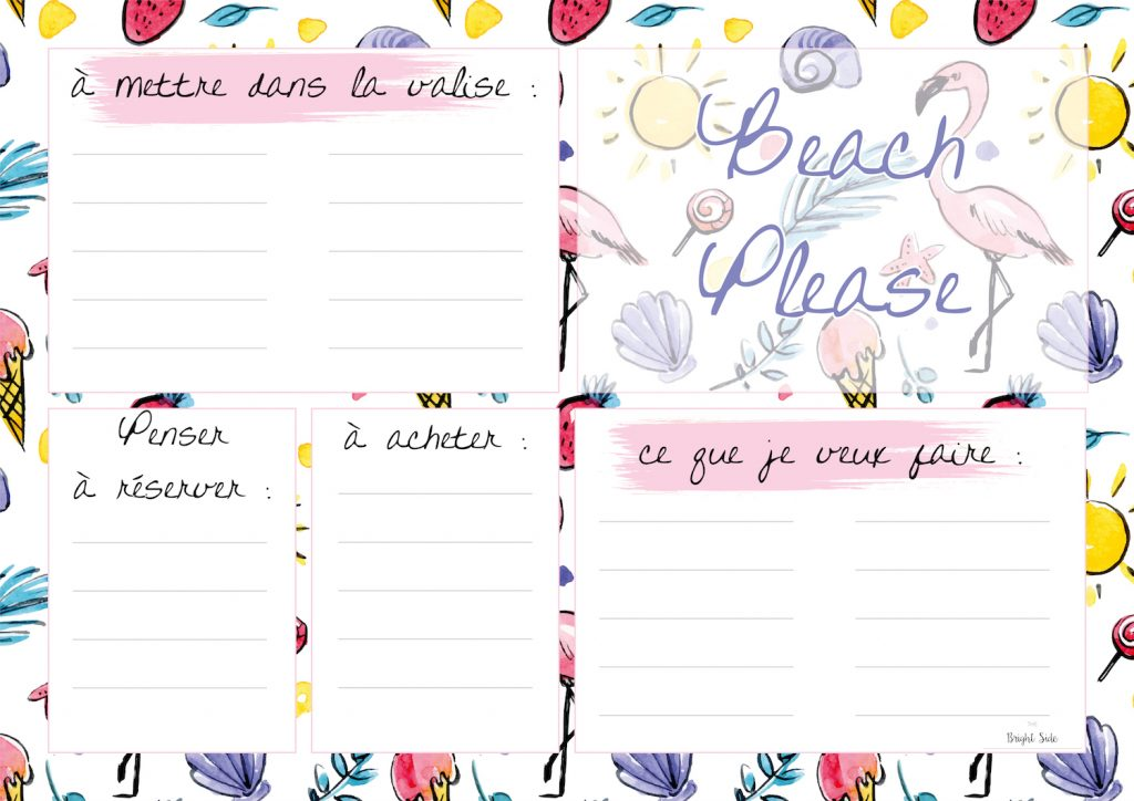 To Do List Calendrier de juillet