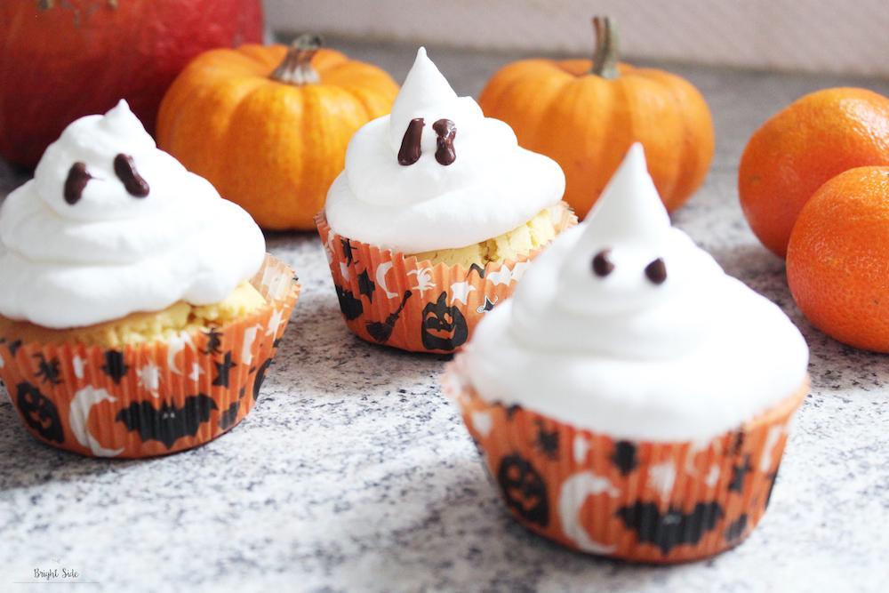 Halloween | Cupcakes fantômes meringués au coeur citron