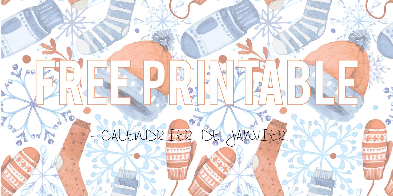 Free Printable | Bonne année 2016 ! – Calendrier Janvier & sélection d'agendas