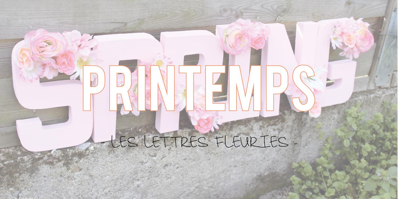 Printemps | Les lettres fleuries 💐