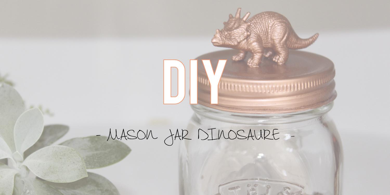 DIY | Mason jar dinosaure !