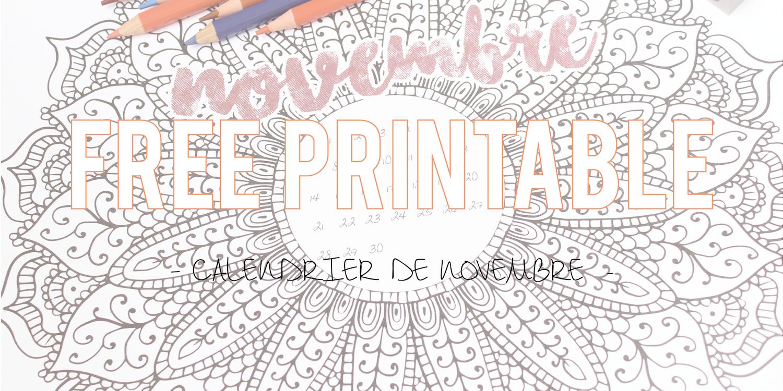 Free Printable | Le calendrier de novembre à colorier !