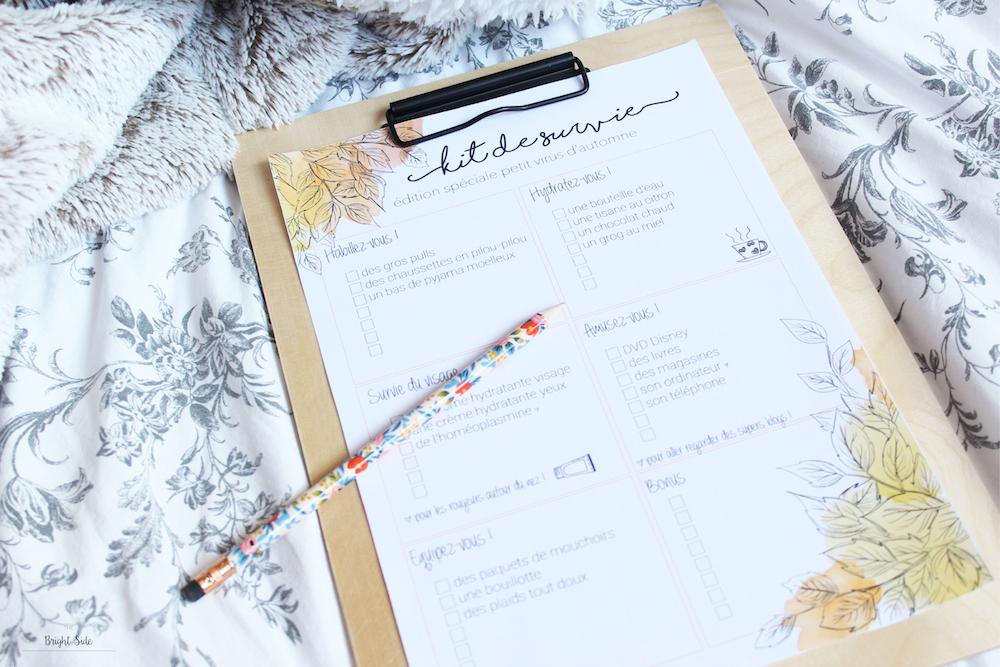 Free Printable | Kit de survie maladie d'automne 😷