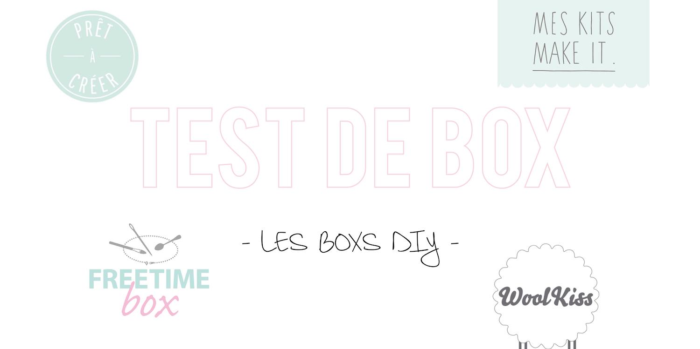 Test de box| Les boxs DIY (catégorie «loisirs créatifs») ✂️