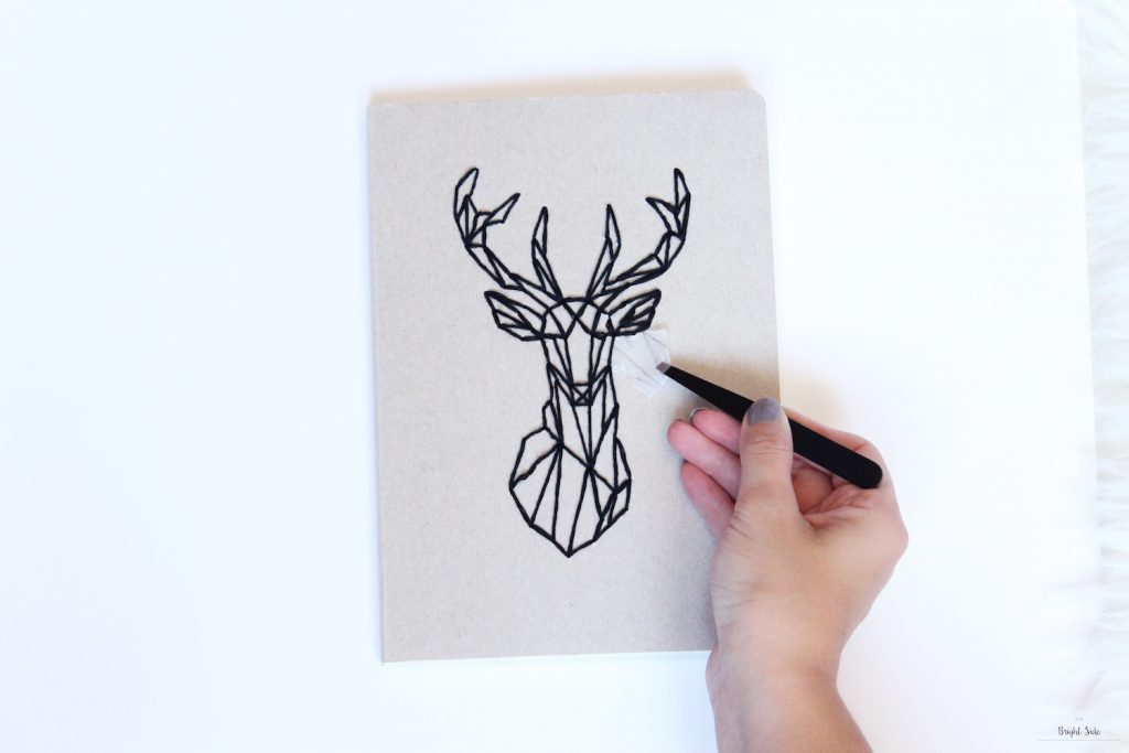 DIY | Le carnet brodé : tête de cerf