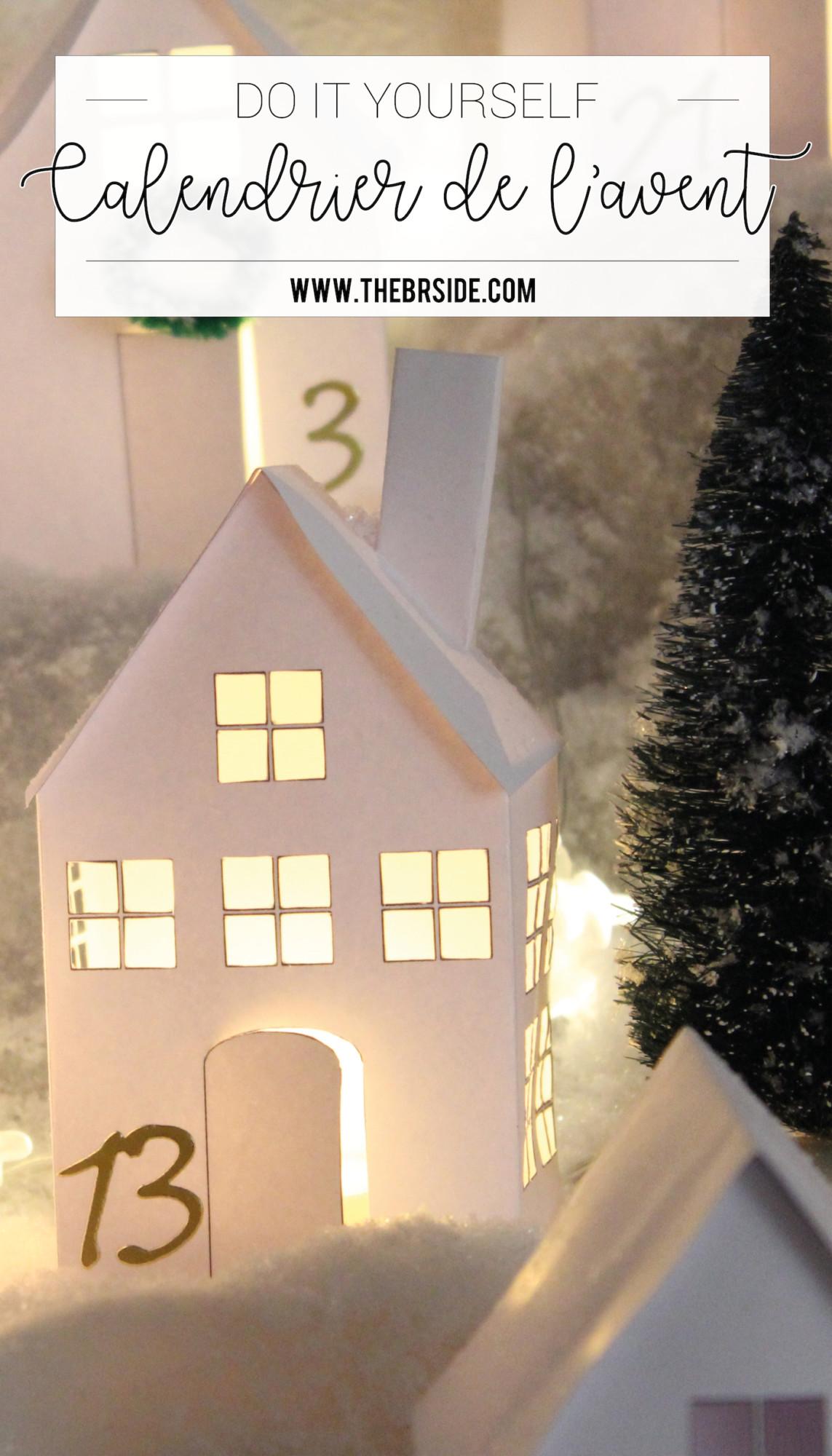 Pinterest DIY calendrier de l'avent #4 village de noël