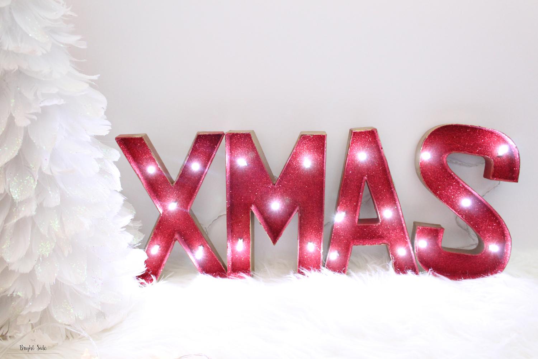 Joyeux Noël | DIY les lettres lumineuses Xmas