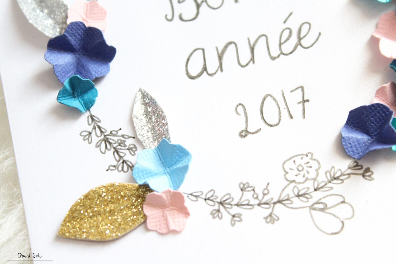DIY   Cartes de voeux Bonne Année 2017 !