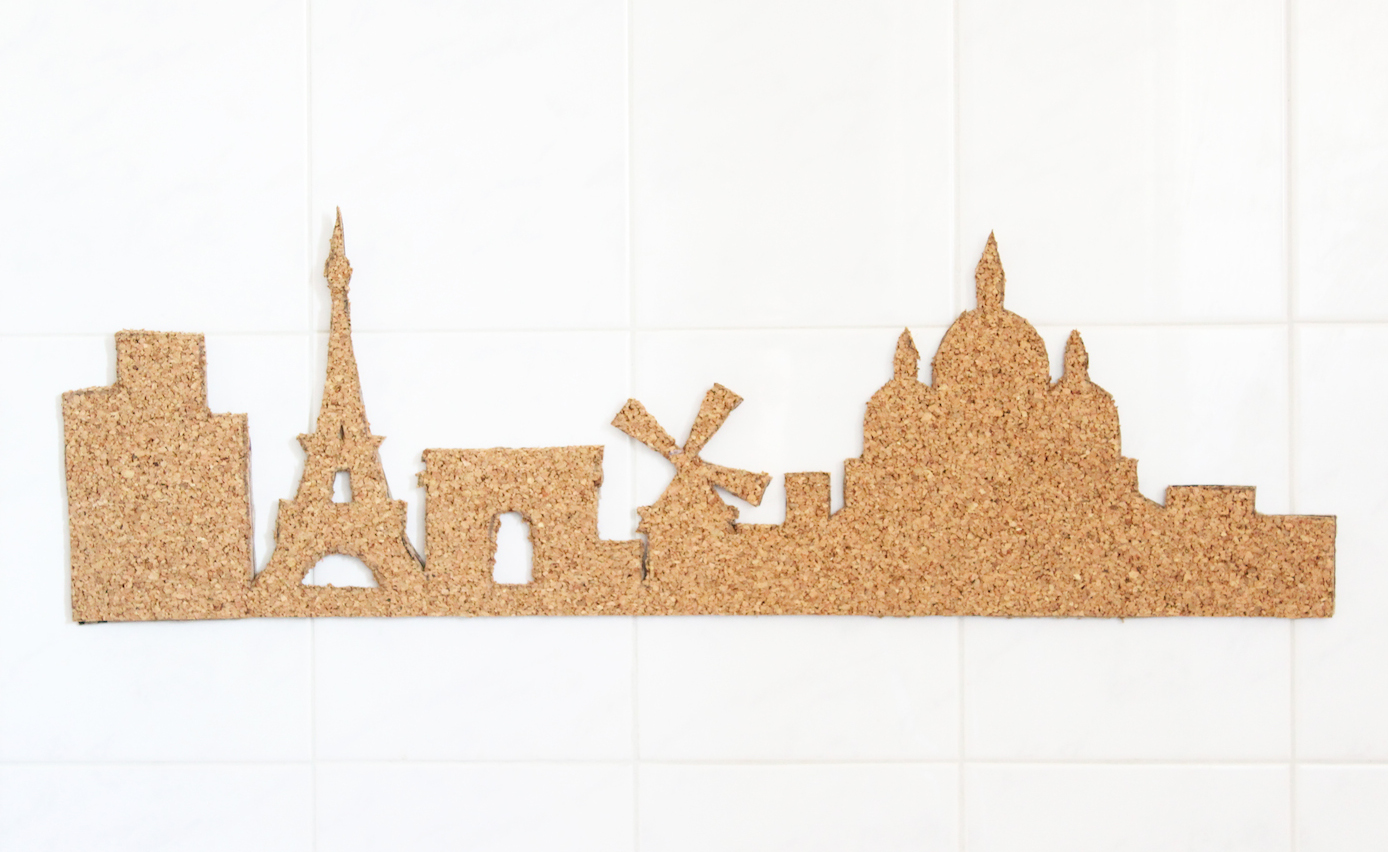 DIY ta skyline en liège : Paris, New York, Londres…