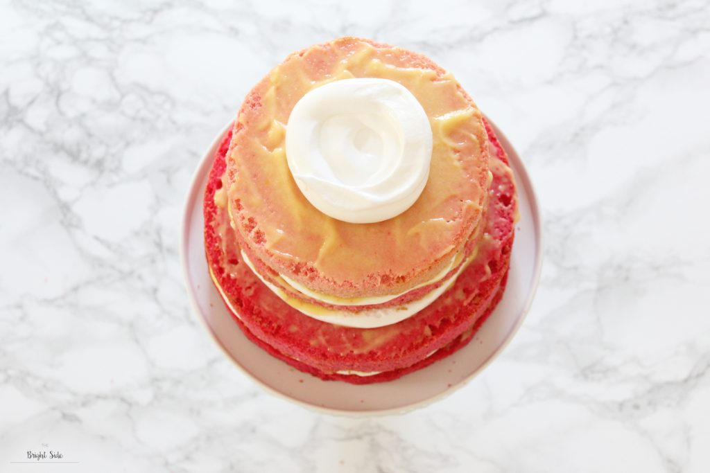 L'ombré wedding cake au lemon curd et meringue