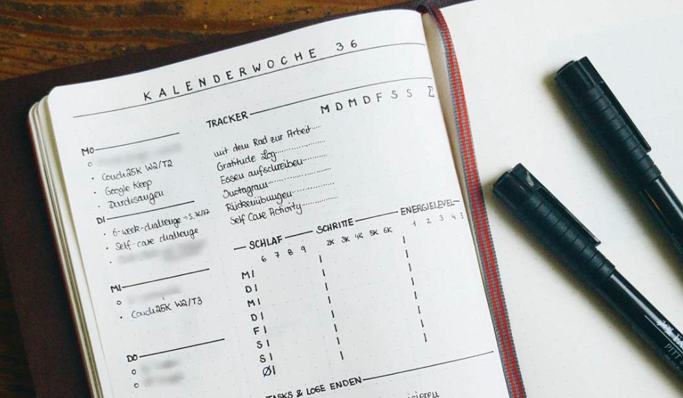 10 Id 233 Es De Page Weekly Log Pour Votre Bullet Journal
