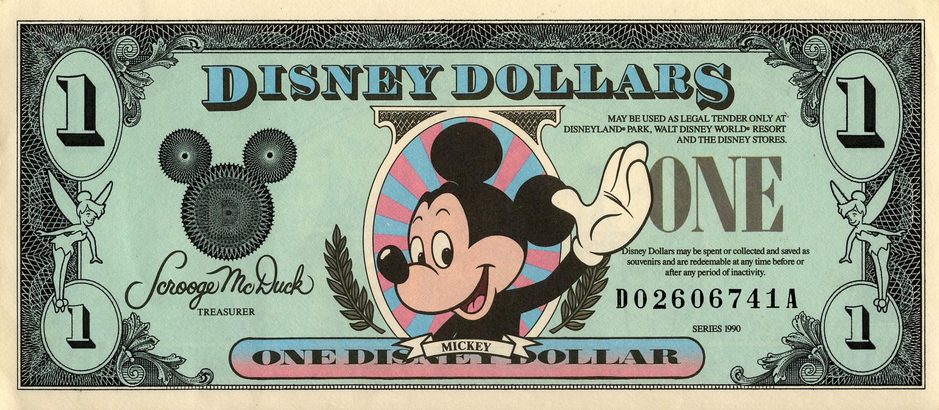 Travailler à Disneyland Paris - argent