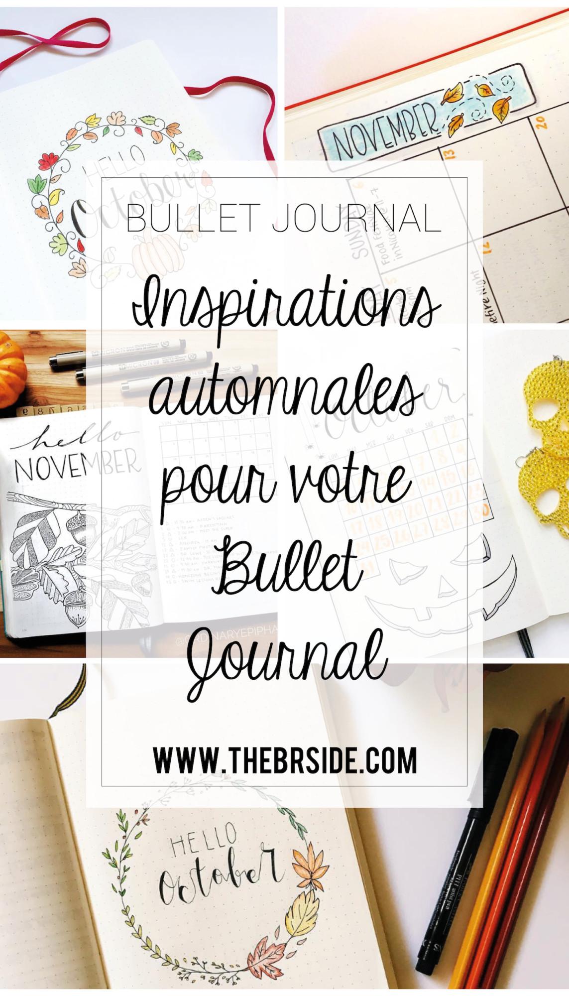 inspirations automnales pour votre bullet journal