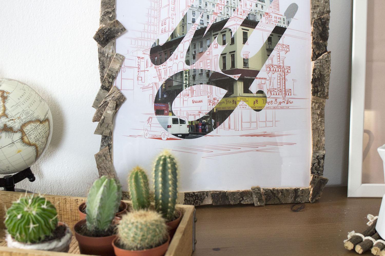 DIY d'automne - Décorations boisées : cadre, photophore...
