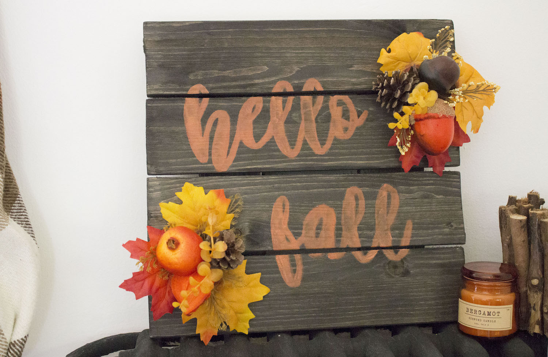 DIY pancarte automne