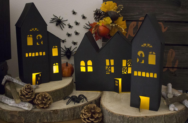 Créez vos photophores maisons hantées d'Halloween   patron gratuit ...