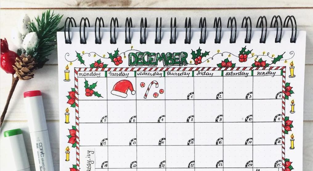 Idées de mise en page de Noël pour votre Bullet Journal !