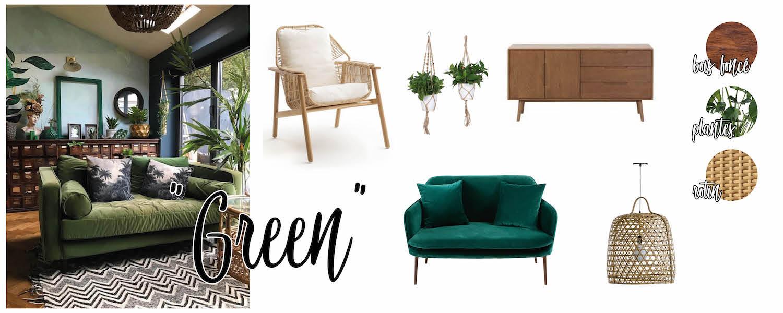 Inspirations déco : salon Green