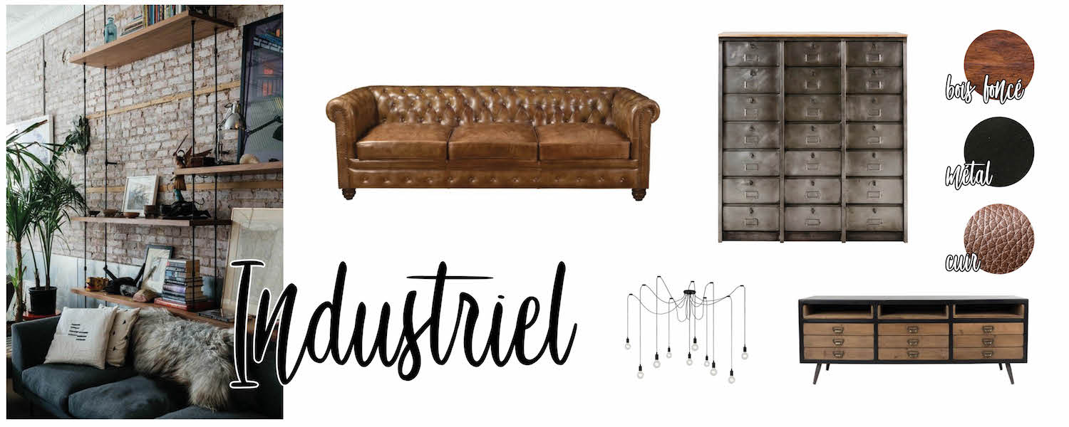 Inspirations déco : salon Industriel