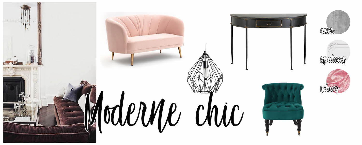 Inspirations déco : salon Moderne chic