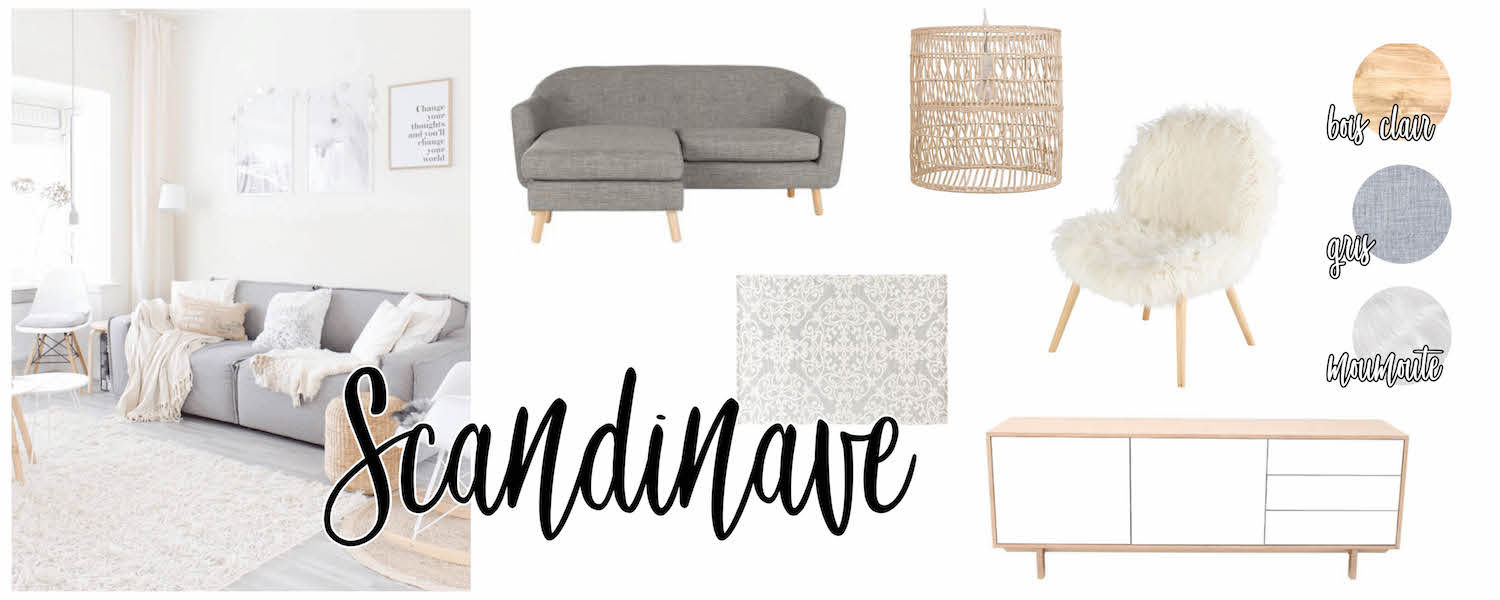 Inspirations déco : salon Scandinave