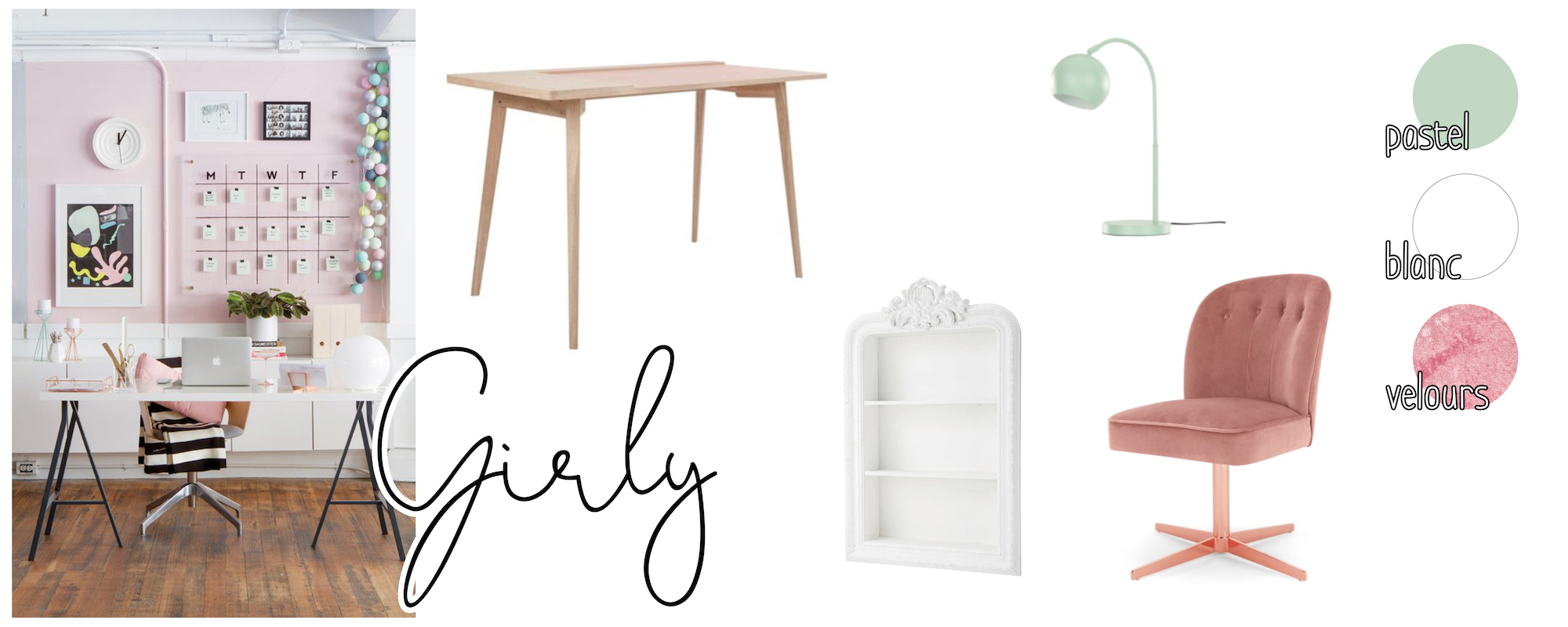 Girly - inspirations déco bureau