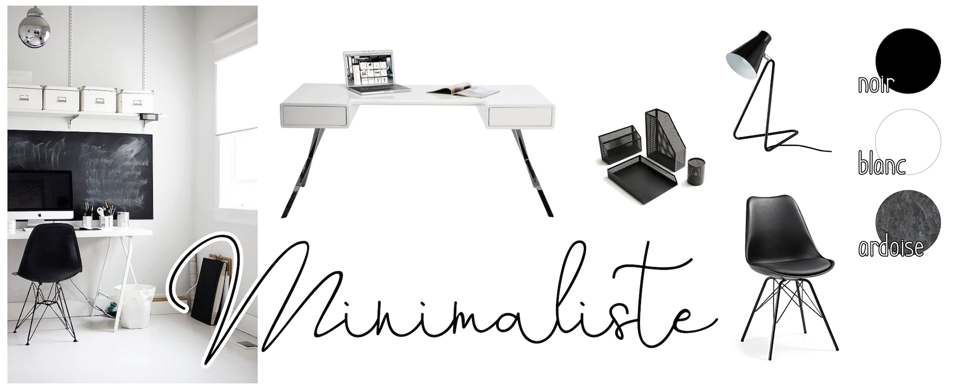 Minimaliste - inspirations déco bureau