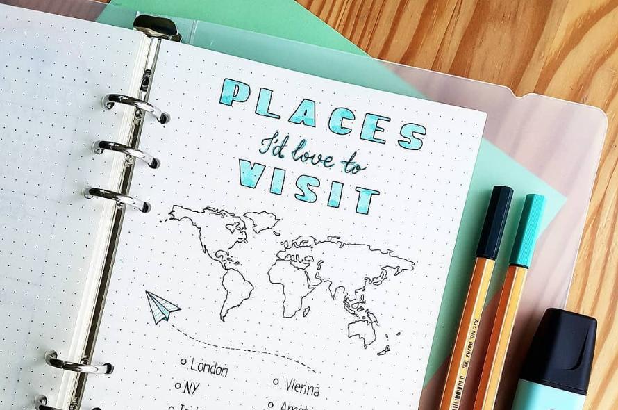 Préparer un voyage avec son Bullet Journal