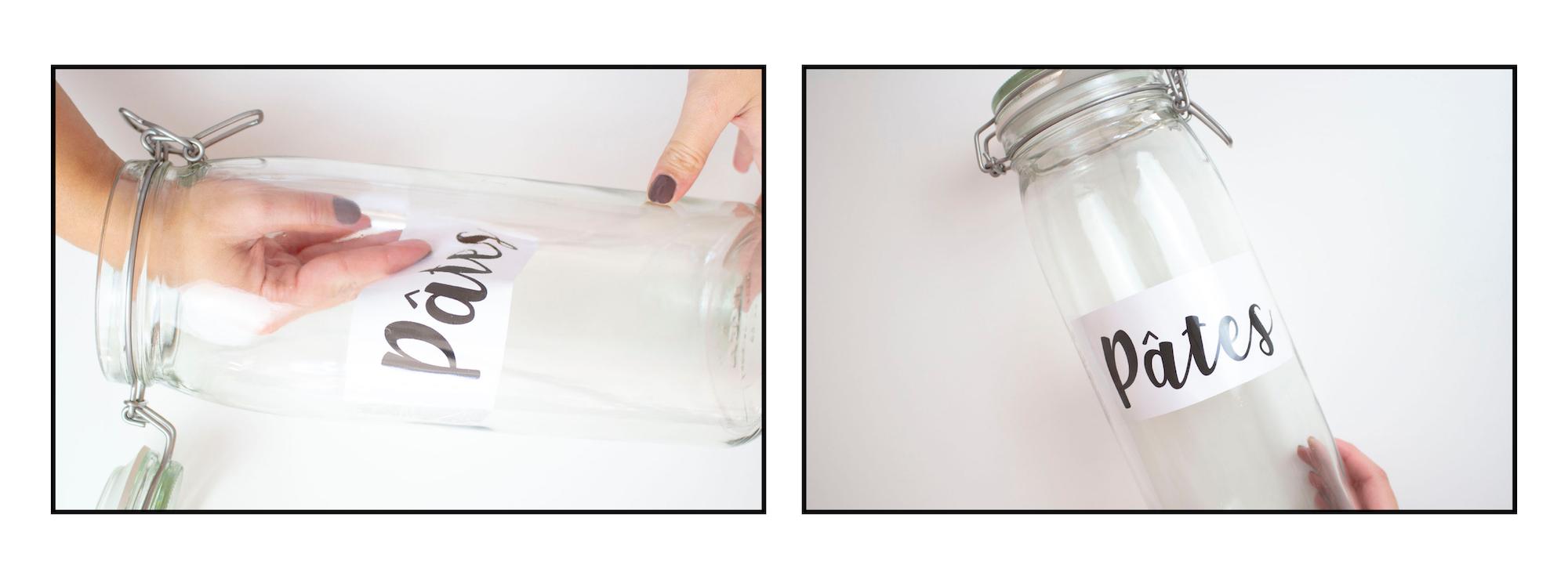 DIY Bocaux en verre pour la cuisine
