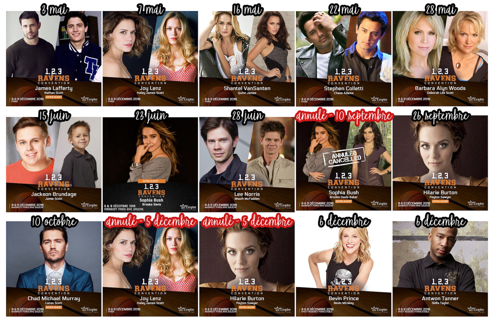 Convention OTH - 1, 2, 3, Ravens line up